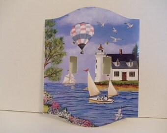 Victorian Bay Art Print on Double Light  Switch Cover