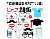 Nursing Graduation Photo Booth Props . Doctor Photo Booth Props . Nursing Graduation . BSN . RN Graduation . Medical Graduation . Set of 15