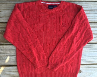 80s cable knit IZOD sweater sz small