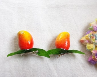Pair Mango Fruit Hair Clip