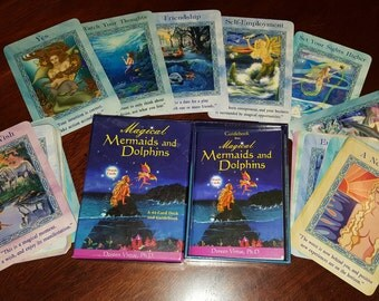 Magical Mermaids & Dolphins Oracle Cards, Complete Deck of 44 cards by Doreen Virtue