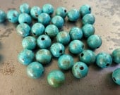 COPPER PATINA 8mm Beads 10 Pieces, Hand Altered Patina
