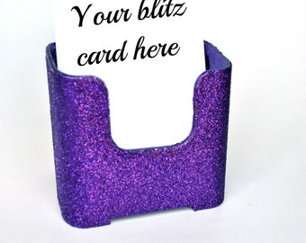 Purple blitz card holder.  Purple Glitter.  Bling.  Sparkles. Home Parties.