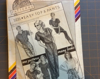 Stretch and Sew 5235 Easy Top and Pants Men and Misses Vintage Ann Person