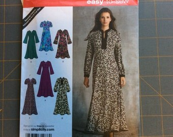 Simplicity 3557 Long Dress Pattern Easy to Sew size 16 thru 24