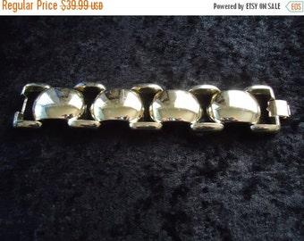 NOW ON SALE Vintage Gold Bracelet 1950s 60s 70s Mad Men Mod Old Hollywood Glam