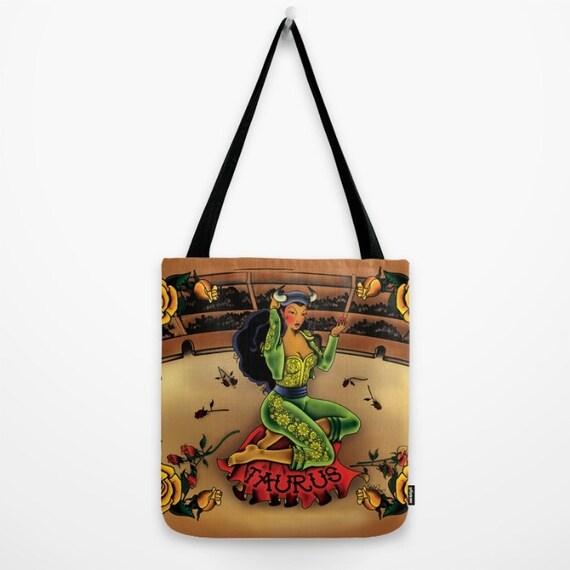 Tattoo Taurus Tote Bag