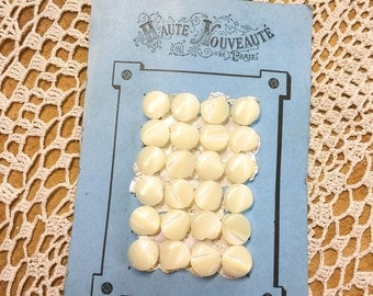 French Buttons, Mother of Pearl, Original Packaging