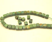SALE Turquoise natural color Campo Frio square 6x6mm 4 beads