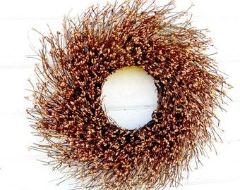 Rustic Twig Wreath-Fall Wreath-Autumn Wreath-CARAMEL MOCHA TWIG Door Wreath-Twig Wreath-Primitive Wreath-Fall Home Decor-Scented Wreaths