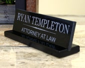 Desk Name Plate Personalized Granite Desk Name Sign Engraved Corporate Executive Lawyer Engineer Judge Teacher Professional