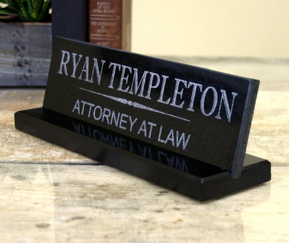 Custom Desk Name Plate Personalized Granite By Customsignworks