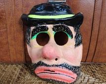 Vintage Clown/Emmett Kelly/Hobo/Weary Willie Halloween Mask 1960's