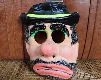 Vintage Hobo Halloween Mask 1960's