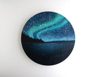 Northern Lights Circle Painting