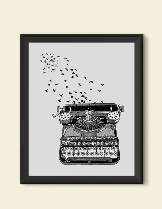 Freedom of Speech Women's T Shirt Vintage Typewriter Birds ...  |Bird Freedom Speech