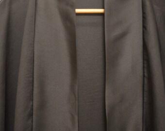 Sheer Black Georgette Kimono Robe