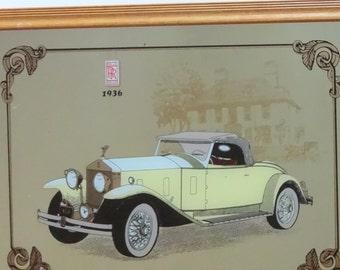 Vintage Rolls Royce Wall Mirror 1970s
