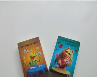 Vintage Dual Deck of Muppet ~ Kermit ~ Miss Piggy ~ Bridge Playing Cards 1980