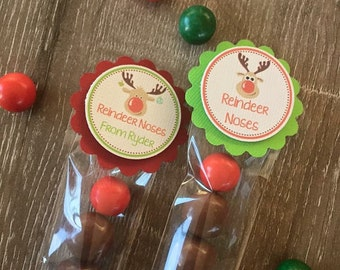 REINDEER NOSES lolly tubes *class pack of 30 UNFILLED tubes