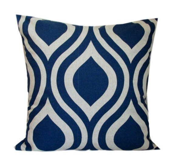 Navy Pillows Decorative Throw Pillow Cover Premier Prints