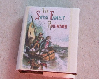 Dolls House Miniature Swiss Family Robinson Book