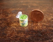 miniature cans peas open
