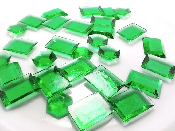 250 GREEN EDIBLE SUGAR Jewels - Featured in Brides Magazine