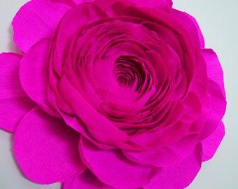 """12"""" Crepe Paper Ranunculus"""