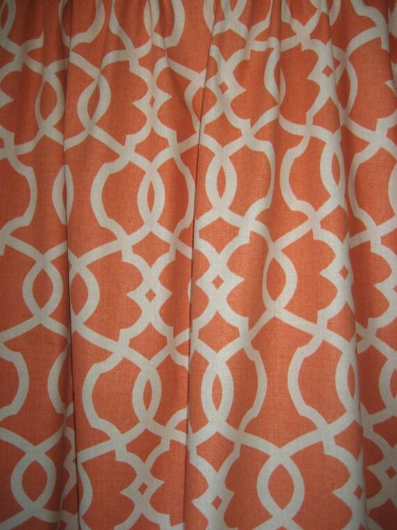 "Two 96"" x 50"" Custom Curtain Panels - Emory Lattice Design - Grey/Blue ..."