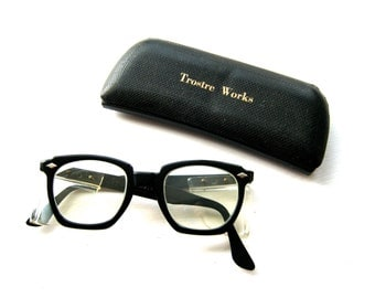Vintage 1950s Parmalee Scientist Laboratory Safety Glasses with Original Steelworks Case
