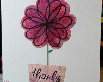 Thanks .... Handmade blank greeting card