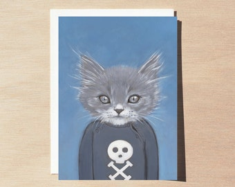 Henry - Greeting Card - Blank Inside - Cats In Clothes
