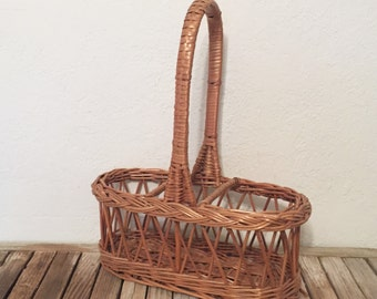 Vintage Hand Woven Bottle Tote Made in Yugoslavia
