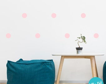 Peel and Stick Metallic Gold Polka Dot Wall Decals Long Life