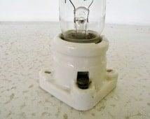 "5"" Tube Light Bulb / Square Porcelain Socket Fixture Wall Mount"