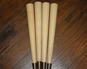 Mid Century Furniture Legs - Blond Wood - Set of Four - Parts - Supplies