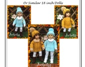 56 American Girl Doll A-Line Sweater  PDF Knitting Pattern