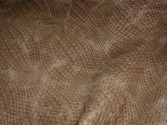 Basket Weave Pattern On Leather : Leather sand braided basket weave pattern by