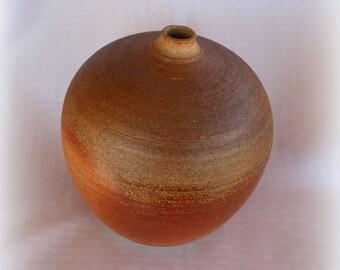 Wood fired orange pot