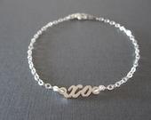 Personalized Mini Sterling Silver Name Bracelet