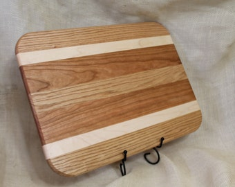 Cherry, Oak and Maple Hardwood Cutting Board or Carving Board