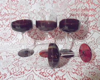 Set of 4 Elegant Long Stemmed Wine Glasses
