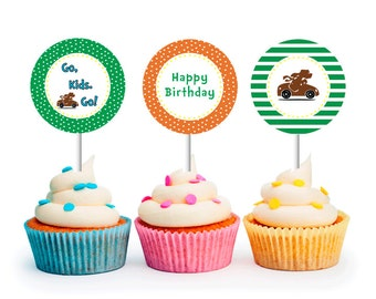 INSTANT DOWNLOAD, Go Dog Go, Cupcake Toppers (Printable Cupcake Toppers)