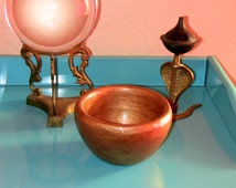 Gilded Cauldron Altar Chalice Wiccan Pagan Christmas Gift Antique Treasure Shop Gypsy Witch Magick