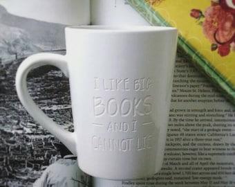 I Like Big Books Mug Engraved