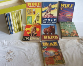Large Lot Vintage Boy Scout Wolf Bear Cub Scout Masters Books 1950's to 1980s Book