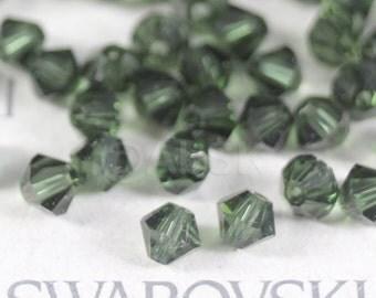 24 pcs Swarovski Element 5301 6mm Bicone Xilion Crystal Beads TURMALINE