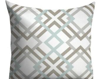 Sage Grey decorative pillows,Grey Pillows, Home Decor,Trellis Lattice Pillow Cover, Couch Pillows,Grey Throw Pillows
