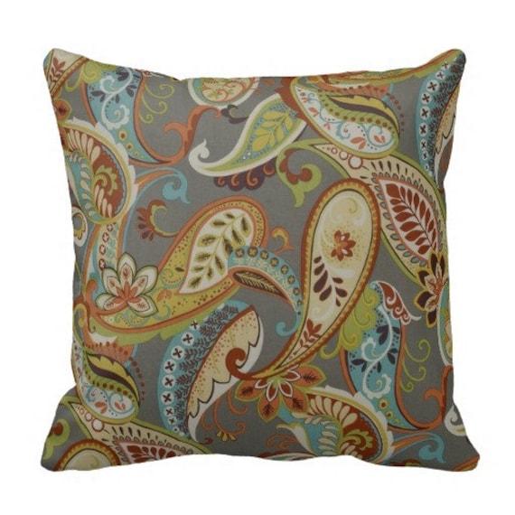Items similar to Outdoor paisley pillows,Patio Decor,Throw Pillows,outdoor Pillow covers ...